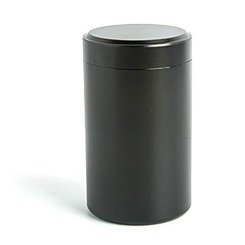 KOMOSO 1 x Aluminiumdose mit Aluminiumdeckel, Kosmetikbehälter, leere Metalldosen, Mini-Blechdose mit Deckel, schwarz.