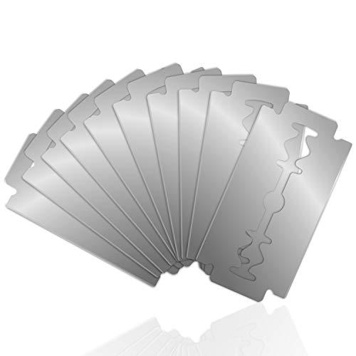 TROP Rasierklingen aus Edelstahl im 10er Set hochwertig, langlebig, ideal für Damen und Herren