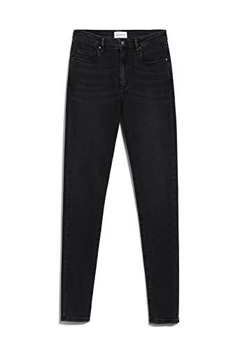 ARMEDANGELS TILLAA - Damen Jeans aus Bio-Baumwoll Mix 28/30 Washed Down Black Denims / 5 Pockets Skinny Skinny Fit