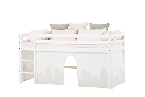 Hoppekids Winter Wonderland gordijnen voor halfhoog en stapelbed, katoen Scandinavisch 90 x 200 cm Winter Wonderland