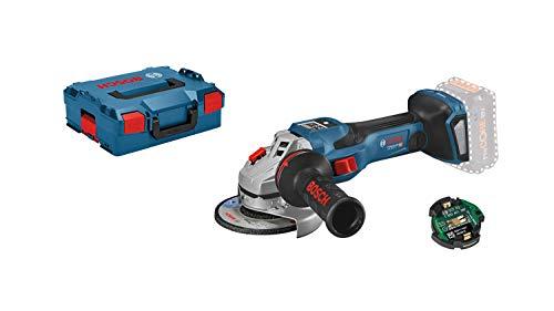 Bosch Professional BITURBO GWS 18V-15 SC - Amoladora angular a batería (18V, disco Ø 125, velocidad variable, Connectivity, sin batería, en L-BOXX)