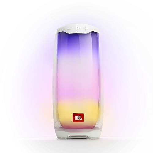 JBL Pulse 4 - Waterproof Portable Bluetooth Speaker with Light Show - Whtie