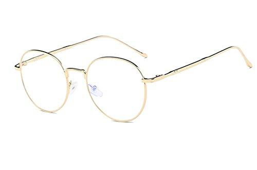 Unisex Blaulichtfilter Brille Computerbrille Retro Sixties Style Runde Metall Brillen Damen Herren