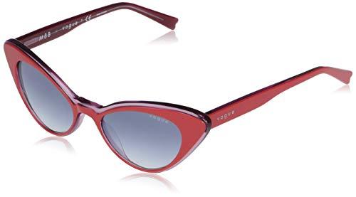 Vogue Eyewear Gafas de sol Vo5317s Cat Eye para mujer, Degradado rojo/azul claro,