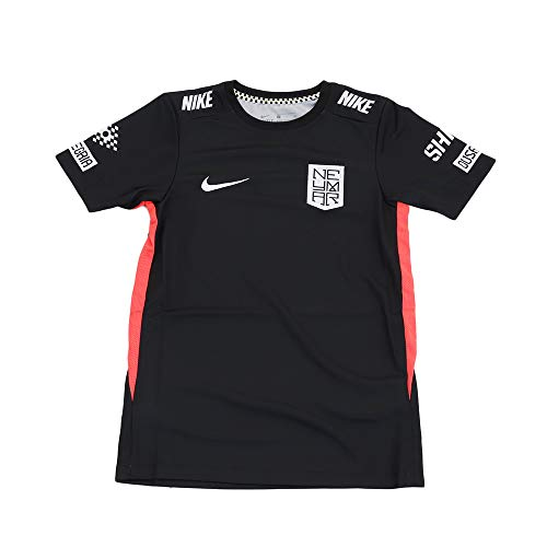 NIKE Camiseta Unisex para niños Neymar Dry, Unisex niños, Camiseta, AT5726, Negro, Rojo y Blanco, Extra-Small