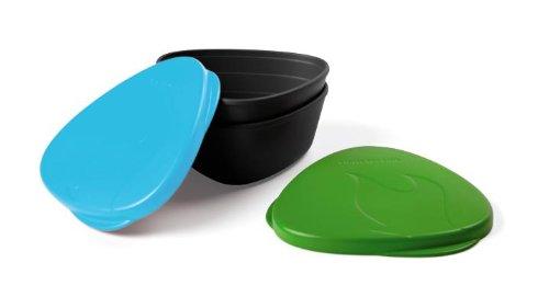Light my Fire sans BPA étanche Snap Box pour la Nourriture de Stockage – Lot de 2, S-Snap-TRI Green/Cyan, Green/Cyan