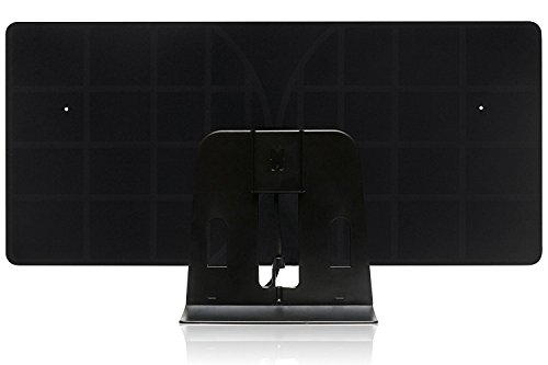 RGTech Monarch 50 Black Indoor Freeview HDTV Aerial - True 50 Mile Multidirectional Flat Paper-Thin Antenna with 4G filter for Maximum Freeview/UHF/VHF/FM/USB TV Tuner/DVB-T/DVB-T2/DAB radio reception