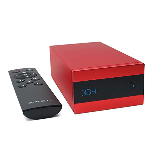 Dilvpoetry SMSL Sanskrit 10th Anniversary Edition HiFi Mini DAC DSD256 USB/Coaxial/Optical /OTG 32bit/384kHz Decoder Audio Amplifier Remote Control(Red)