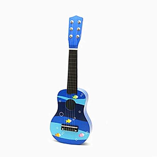 Dirgee Leichte Holz 6 String Mini Gitarre Kinder Musikinstrumente Spielzeug for Geburtstagsgeschenke und 4 Muster verfügbar (Farbe: 3) (Color : 2)