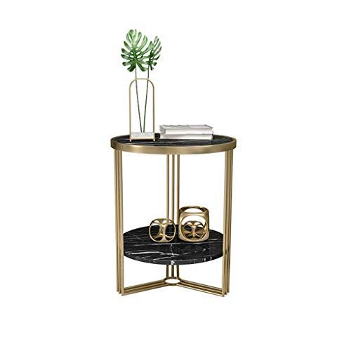 YAQ-Muebles de oficina Sofá Mesa, mármol artificial de mesa de hierro Mesa for sala de estar dormitorio multifuncional de oficina Mesa lateral Mesas de pedestal ( Color : B , Size : 45*45*55CM )
