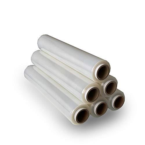 6 Rollen-Stretchfolie-Palettenfolie-Wickelfolie 23my 500mm 2kg (transparent)