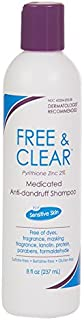 Free & Clear Medicated Anti-Dandruff Shampoo | Fragrance, Gluten and Sulfate Free | For Sensitive Skin | Maximum OTC Strength Zinc Pyrithione 2% | 8 Ounce