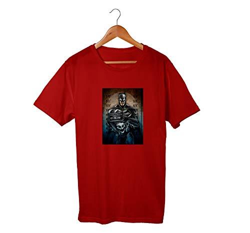 Camiseta Unissex Batman Preso Coringa Gotham Dc Comics 100% Algodão (Bordô, GG)