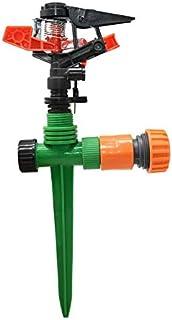 "YISENMIAO Adjustable Garden Lawn Sprinkler With Nozzle Holder Rotating Sprinkler Rocker Nozzles Garden Lawn Watering 1/2"" ..."