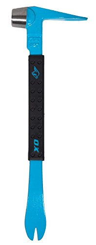 OX Claw Bar - Pro Series Claw Bar with Non-slip Grip Handle - Hardened Hammer Head - Multi-Colour - 10-Inch/250 mm