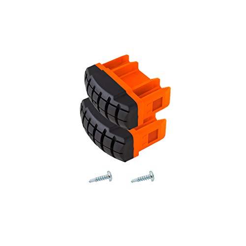 1 Paar Fußstopfen für Gelenk-Teleskopleiter Telvario 64x25 schräg orange Monto Krause 201232