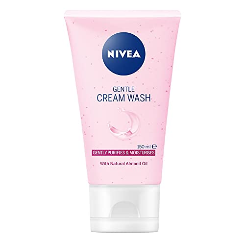 NIVEA Gentle Face Cleansing Cream Wash for Dry & Sensitive Skin (150 ml),...