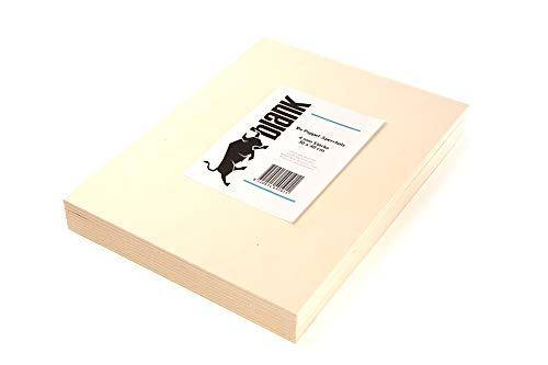 blank - Piastre in compensato da 4 mm, set da 10 pezzi, 30 x 40 cm, compensato di pioppo per sega a fogliame e bricolage, modellismo, hobby creativo, legno per bricolage