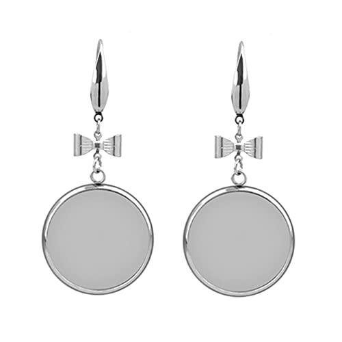 Base de joyería 10 unids de acero inoxidable mujer pendiente cabujón base en blanco ajuste 12 14 16 18 20 25 mm gancho de la oreja BRICOLAJE Accesorios Fabricación de joyas ( Color : 1 , Size : 18mm )