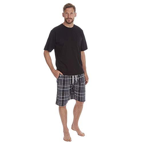 Pijamas para Hombre Set Top Manga Corta Camiseta & Pantalón