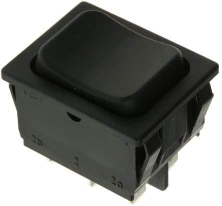 Marquardt 1839.1402 - Interruptor basculante (250 V/AC 6 A, 2 x (EIN)/Aus/(EIN) IP40 teclado/0 / pulsador, 1 unidad)