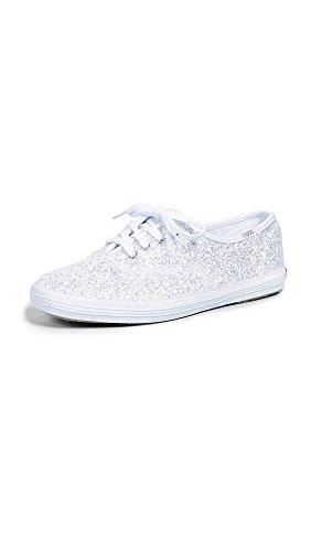 Keds Women's Champion Kate Spade Glitter Sneaker, White