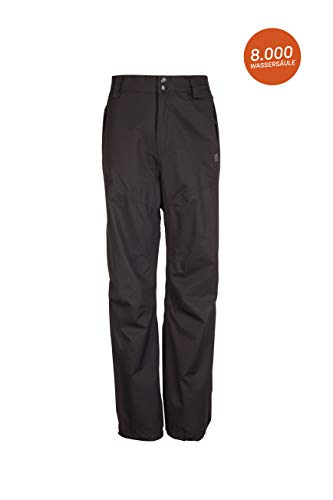Killtec Kinder Regenhose Gulliver Jr - Überziehhose mit durchgehendem Reissverschluss - regenfeste Hose für Jungen und Mädchen - wasserdicht und atmungsaktiv, schwarz, 176