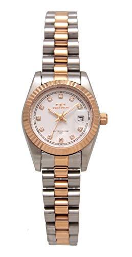 [テクノス] 腕時計 T6912RW レディース ローズゴールド