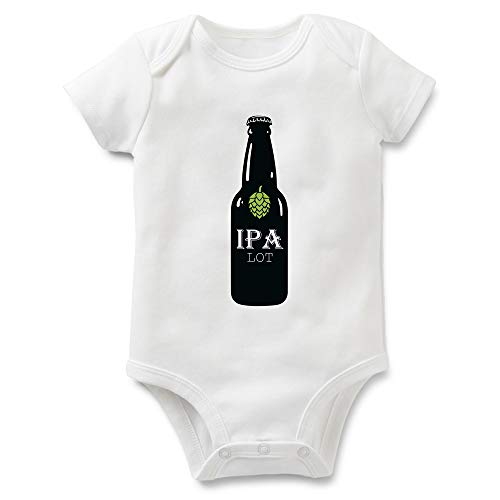 I Pee A Lot Funny Onesie for Baby and Toddler-Baby Beer Body Suit - Beer Baby One-Piece (IPA lot 6M)