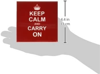 Amazon Com 3drose Cst 157762 4 Keep Calm And Carry On White Text On Vintage Classic Dark Red Ceramic Tile Coasters Set Of 8 Home Kitchen