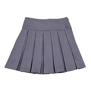 Bienzoe Niña Elástico Plisado Teflon Uniforme Escolar Danza Falda 6