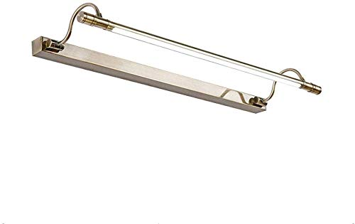 Eenvoudige led-spiegel koplamp kunst make-up lamp waterdicht anti-fog badkamerkast licht lampen drie kleuren instelbare rollsnownow (grootte: 56 cm 11 watt)