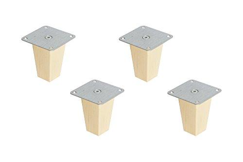 New Swedish Design 4 x Kallax Regal Füße Möbelfüße Möbelbeine Pyramid Höhe 10 cm Buche