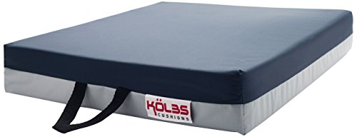 Kölbs Cushions Gel Supreme Wheelchair Seat Cushion, 20 X 18 X 3 Inch, Blue/Gray