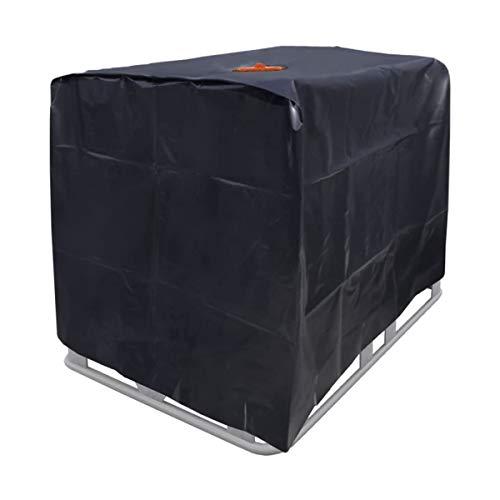 Optizium Wassertank Abdeckplane - 1000 L - 120 x 100 x 116 cm - IBC Tank Abdeckung Behälter Container UV-Folie Schutzhülle Schutzplane Cover