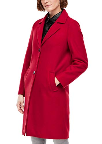 s.Oliver Damen Wollmix-Mantel mit Paspelierung, Rot (rot 3842), 38