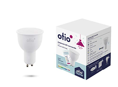BBL014 - Bombilla Bluetooth LED color GU10 4W con ajuste de la intensidad de la luz y cambios de colores, función despertador y simulación de presencia
