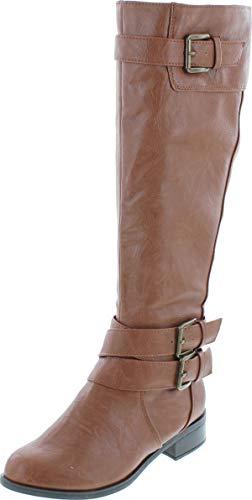 Soda Womens Doric-S Fashion Riding Boots,Congac,7
