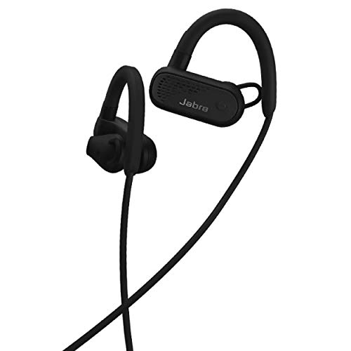 Jabra Elite Active 45e Wireless Sports Earbuds, Black – Alexa Built-In Wireless Bluetooth Earbuds, Around-the-Neck Style with a Secure Fit and Superior Sound, Long Battery Life, Ideal for Running