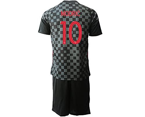 Camiseta de fútbol de la Copa de Europa de Croacia 2021 para niños Camiseta de Adulto (Visitante No. 10, Talla de Ropa M)
