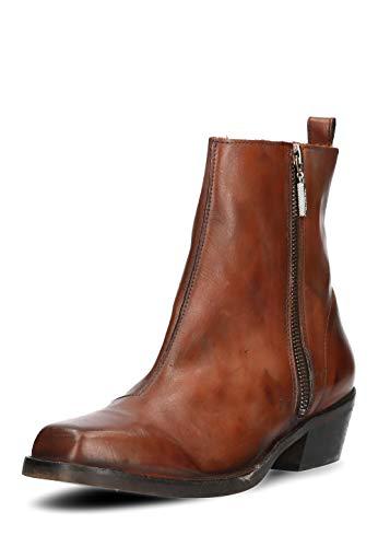 Diesel Damen Boots Stiefeletten Yousston Echtleder (EUR 38, Braun)