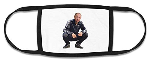 NoMoreFamous Putin Funny Gopnik Reusable Dust Face Mask Healthcare Breathable Safety Mouth Smog Protection Washable One Size