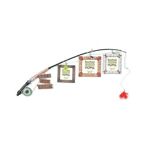 The Big Catch Fly Fishing Pole Photo Picture Holder Frame Themed Decor