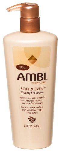 Ambi Skincare Soft & Even Creamy Oil Lotion, 12-Ounce Bottles (Pack of 3)