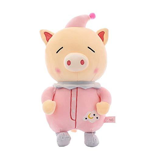 NOLOGO Clown Schwein unten Baumwolle Puppe Educational Puppet (Color : Pink, Size : 40cm)