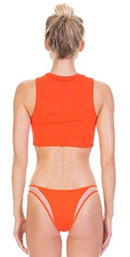 Tori Praver Fine Rib Manon Bottom in Hot Orange 1S19SBMNNR- HTO L/Orange
