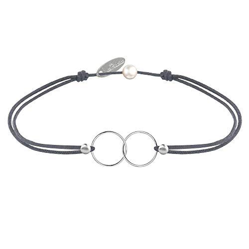 Schmuck Les Poulettes - Silber Armband Ringe Du und Ich - Classics - Grau