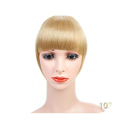 Naturel Noir Brun Neat Front Clip In Hair Bangs Extensions Clip On Synthetic Hair False Fringe Postiches Pour Femmes 2 Styles-1031-