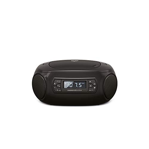 Energy Sistem Boombox 3 Altavoz portátil con Bluetooth (Bluetooth, CD Player, USB MP3 Player, FM Radio)(Bluetooth, CD Player, USB MP3 Player, FM Radio)