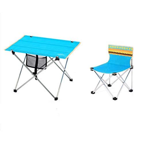LZL Grill Picknick Klapptische Aluminiumtisch für Outdoor-ESS-Tische für Camping- / Bankett- / Picknickpartei/Garten BBQ - höhenverstellbar (Color : Table+Four Chairs)